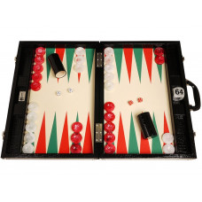 Backgammon set Proffs XL Wycliffe Brothers in Black (0135)