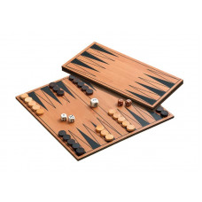 Backgammon set in MDF Folding S Travel