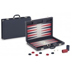 Backgammon-set Tradition XL Dal Negro i mörkblått