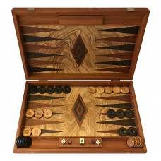 Backgammon set made of wood Rhodos L