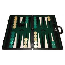 Backgammonspel Popular XXL Grön 50 mm bg-pjäser