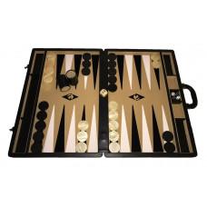 Backgammonspel Popular XXL Beige 50 mm bg-pjäser