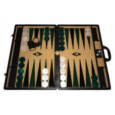 Backgammon board XXL Popular Beige 50 mm Stones
