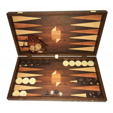 Backgammon set in Wood Skinousa L