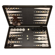 Backgammon set in Wood Keros L