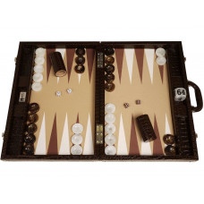 Backgammon Board XL Wycliffe Brothers in Brown