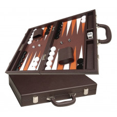 Silverman & Co Favour M Backgammon set in Dark Brown