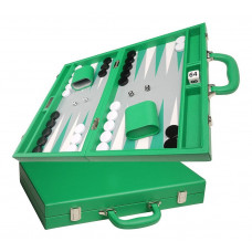 Silverman & Co Favour M Backgammon set in Green