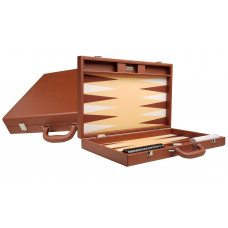 Silverman & Co Premium L Backgammon set in Brown