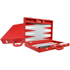 Silverman & Co Premium L Backgammon set in Red