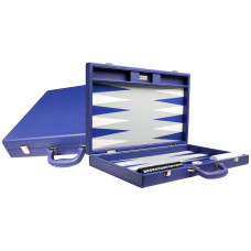 Silverman & Co Premium L Backgammon set in Blue