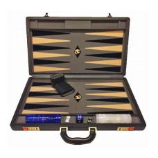 Backgammonspel Popular XL Gray 45 mm bg-pjäser