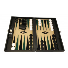 Backgammon-spel M i Svart-be-sv-gr Popular Bg-pjäser 36 mm