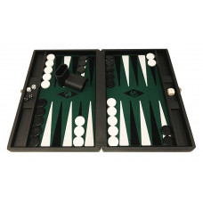 Backgammon-spel M i Svart-gr-sv-vi Popular Bg-pjäser 36 mm