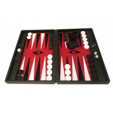 Backgammon-spel M i Svart-rö-sv-vi Popular Bg-pjäser 36 mm