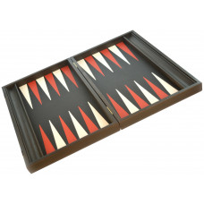 Backgammon set in Wood & Leather Nikouria L
