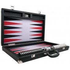 Backgammon Board XXL Wycliffe Brothers Prestige Black Briefcase Gray Field