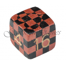 "Doubling cube 30 mm Handmade ""Chess Love"""