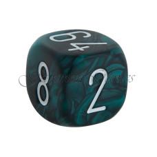 Backgammon-kub Graverad i grått 30 mm