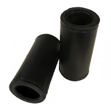 Backgammon Leather Dice cups in Black Round