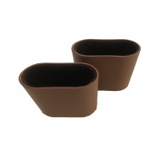 Dice Cups Oval Plastic  in Brown