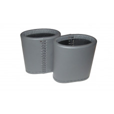 Leather Dice Cups Oval in Gray