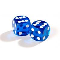 Officiella precisionstärningar backgammon 14 mm i blått