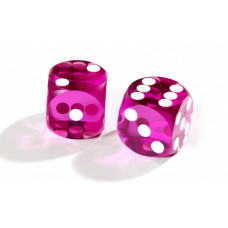 Official Precision Dice for Backgammon 14 mm Purple