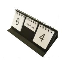 Backgammon Score board Folding design in black