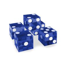 Kasino precisionstärningar 19 mm Serie-numrerade 5-pack i blått