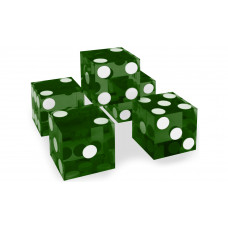Casino Precision Dice Serial Numbered Set of 5 in Green