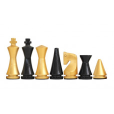 Modern Chessmen Glossy Golden KH 75 mm