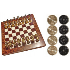 Chess & Draughts XL Elegant Not foldable