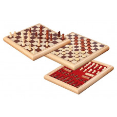Draughts & Chess Two In One Combo Natur