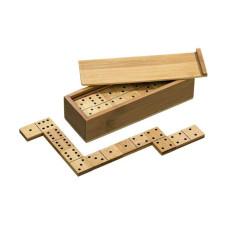 Domino set Dubbel 6, bambu i kassett