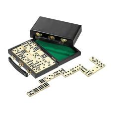 Dominos Double 9 Acrylic in black case