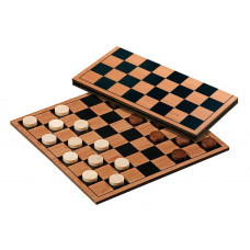 Draughts 8x8 folding board travel game