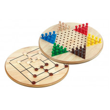 Chinese checkers & Mills  XL Duplex Wooden