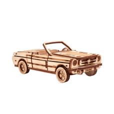 Wooden 3D puzzle Cabriolet