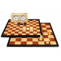 Draughts 10x10 & Chess 8x8 Two In One Medium